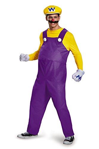 Super Mario Bros Nintendo Wario Deluxe Costume Adult X-Large 42-46 (Wario Kostüm Für Herren)