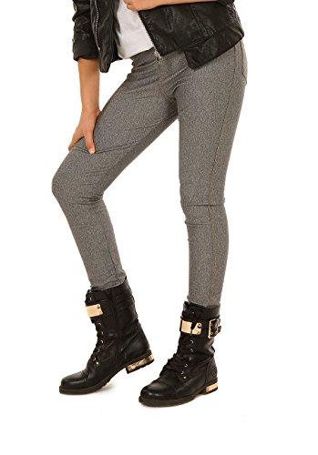Jeans Leggings für Mädchen Legings Kinder Hose Gr. 116-158 (158, Jeans Melange)