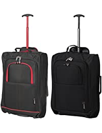 Set von 2 Leichtgewicht Handgepäck Kabinengepäck Flugtasche Koffer Trolley Gepäck