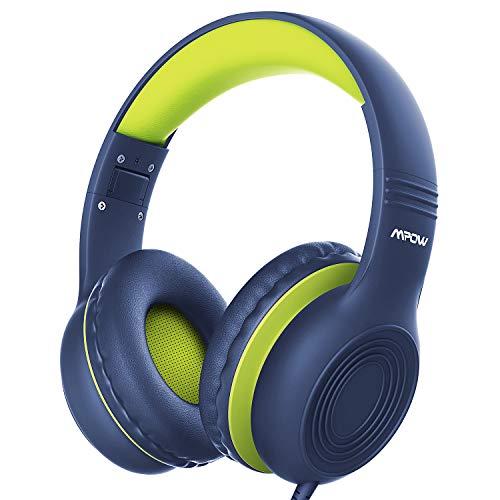 Kinder Kopfhörer, Mpow CH6S Kopfhörer für Kinder mit 85dB Lautstärkeregler Schalter Over-Ear Ohrenschützer Faltbar Lebensmittelqualität Material Mikrofon für Smartphone Tablet Laptop Computer mp3/4