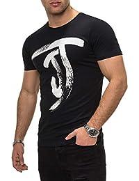 JACK & JONES Herren T-Shirt Kurzarmshirt Top Print Shirt Casual Basic O-Neck