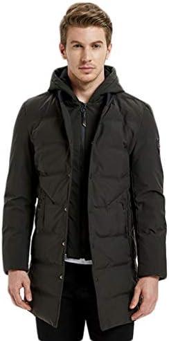 JBHURF Piumino con Cappuccio da Uomo Uomo Uomo Large Large Thickness Hooded Winter Long da Uomo (Coloreee   verde, Dimensioni   L.) | Forte valore  | unico  7ffbe8