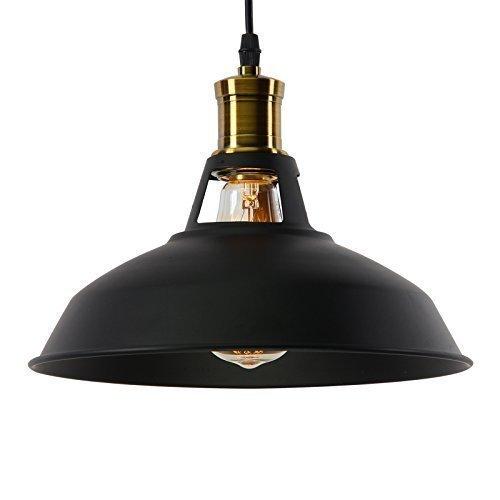 Louvra Luminaire Suspension Vintage Rétro E27 Industrielle en Métal Lampe Pendante Plafonnier DIY Installation pour Eclairage Cuisine Salle à manger Salon Corridor et Restaurant