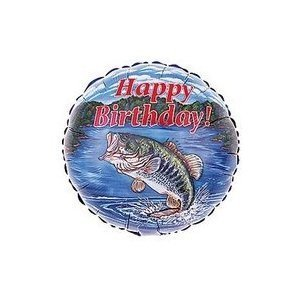 Birthday Fishing Party Balloon Mylar Dad Fisherman by Balloon ()