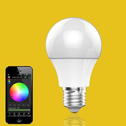 Starworld E27 Bluetooth Control LED Light Bulb, RGB 4 5W LED