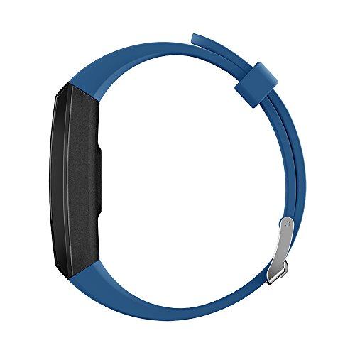 0.96 HD Intelligente Uhr, Großes Bildschirm-Telefon Drahtlose Bluetooth4.0 Wasserdichte Sport-Smartwatch Mit Multifunktionsschlafmonitor-Eignungs-Armbanduhr-Unterstützung Android4.4 Ios 8.0 Oben,Blue