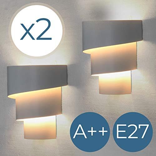 Jago - Applique Murale Intérieur 25 W Lampe Murale en Fer Blanc (Quantité au Choix)