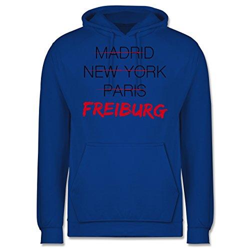 Städte - Weltstadt Freiburg - Männer Premium Kapuzenpullover / Hoodie Royalblau
