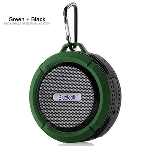 Qiyan Outdoor-Soundbox Drahtloser Mini-Bluetooth-Lautsprecher Tragbarer Subwoofer Bluetooth-Surround-Soundsystem wasserdichte Dusche Tragbare Lautsprecher Grün -