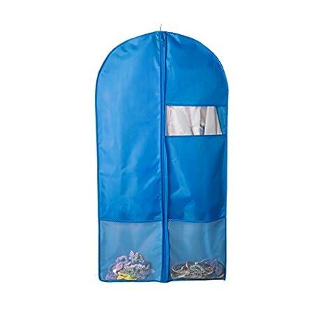 Sac de rangement Lavable Oxford Tissu Vêtements Couverture de la poussière Suit Ensembles Habillement Habillement Admission Sacs suspendus Couverture Transparente épaississement ( couleur : Bleu , taille : 125*58cm )
