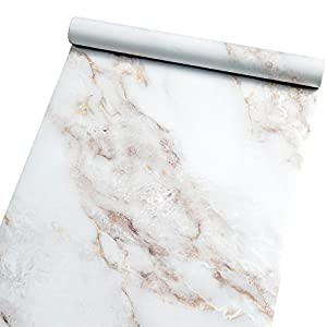 Homein Möbelfolie Marmor Folie Klebefolie Vinyl Selbstklebend Dekorfolie Fensteraufkleber PVC Aufkleber für Möbel Küche Küchenschrank Granit 44.5 x 200 cm