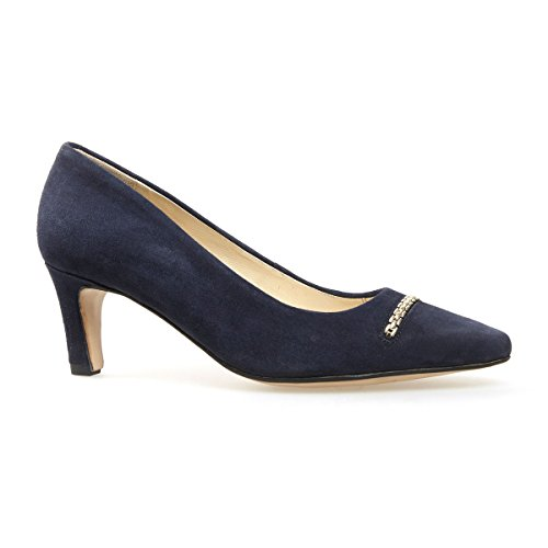 Van Dal Shoes Womens Court Burrell in Marine Navy Suede