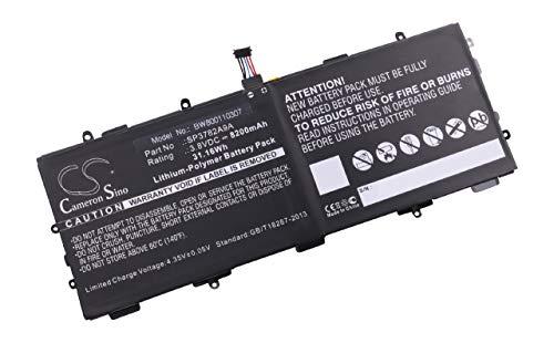 vhbw Li-Polymer Batterie 8200mAh (3.8V) pour Netbook Pad Tablette Samsung Ativ Tab GT-P8510 comme Samsung SP3782A9A, SP3782A9A(1S2P).