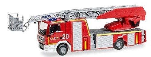 Herpa - 092272 - Man TGM Metz Echelle tournante L32 Pompiers Aéroport Köln-Bonn