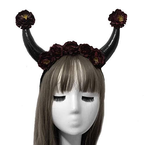 nk Hairband Fasching Zubehör Hörner Haarreif Horn Stirnband Kopf Schmuck12 ()