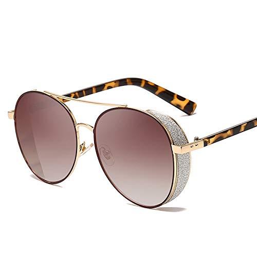 JJHR Sonnenbrillen Mode Blitz Sonnenbrille Männer Und Frauen Allgemeine Modelle Metall Sonnenbrille Aufkleber Leder Dekorative Sonnenbrille
