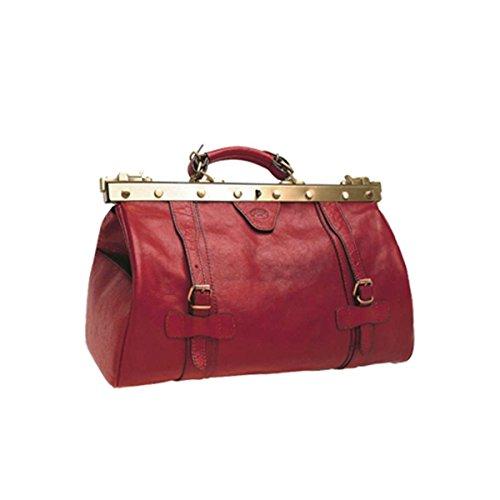 Katana - Sac Doctor Bag en Cuir de vachette - Rouge