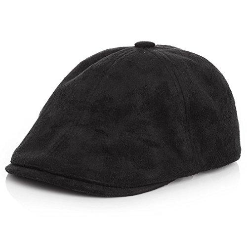 Kuyou Gatsby Mütze Kinder Baskenmütze Baby Kids Kapppe Hüte (Black)