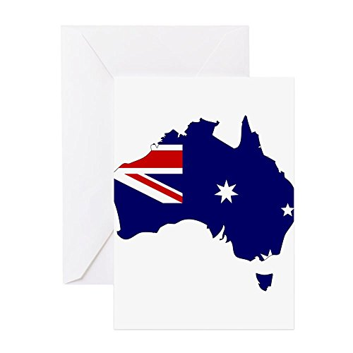 CafePress–Australien Flagge Karte–Grußkarte, Note Karte, Geburtstagskarte, innen blanko, matt
