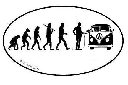 Preisvergleich Produktbild Bully Minivan Transporter Bus Van EVOLUTION Aufkleber Autoaufkleber Sticker Vinylaufkleber Decal