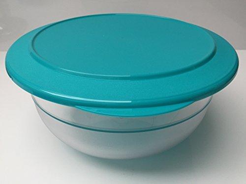 TUPPERWARE Tafelperle Exclusiv 3,5 Liter türkis Schüssel mit Deckel Großes Tupperware Salat Schüssel