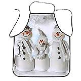 Mitlfuny Weihnachtsdekoration-WeihnachtsküChen-SchüRze Wasserfestes Restaurant-Abendessen-Kochendes Schutzblech FüR Das Backen Barbequing