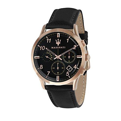 MASERATI Reloj Cronógrafo para Hombre de Cuarzo con Correa en Cuero R8871625004