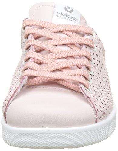 Victoria Deportivo Piel Perforado, Sneaker Unisex – Adulto Rosa