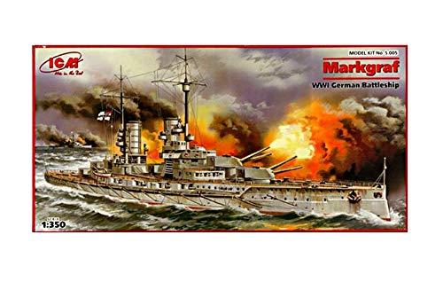 Icm s.005 - modellino nave da guerra tedesca markgraf, i guerra mondiale