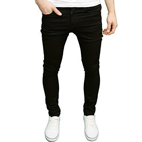 Herren-Marken-Jeans, Skinny Fit, von 526jeanswear, erhältlich in 4Farben Schwarz - Schwarz