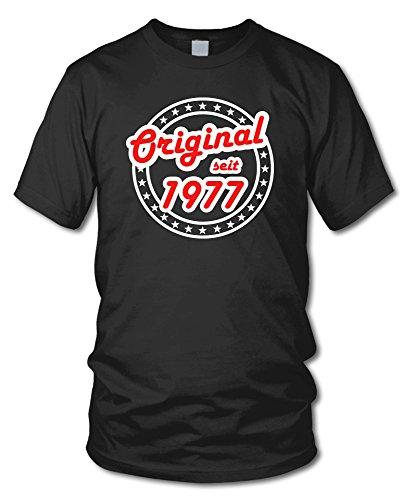 shirtloge - ORIGINAL SEIT 1977 - KULT - Geburtstags T-Shirt - in verschiedenen Farben & Größen Schwarz