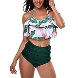 ZODOF Traje De BañO para Mujeres Traje De BañO De Bikini con Estampado De Mujer Sujetador Acolchado para Mujer Bikini Set Traje De BañO Moda De Verano