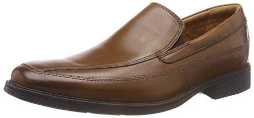 Clarks Tilden Free, Mocasines para Hombre, Marrón Dark Tan Leather, 41 EU