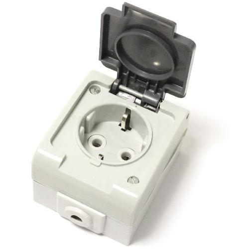 Cablematic - Basis IP44 wasserdichte Oberfläche 16A 250 V mit Schukost