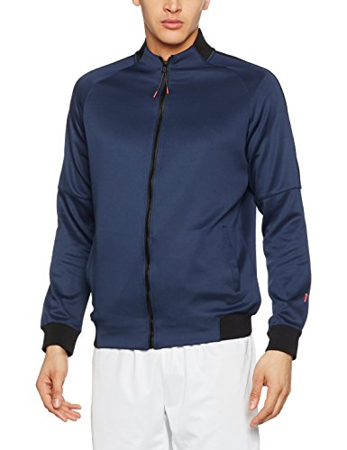 New Look Herren Sportjacke Zip Funnel Tricot blau (marineblau)