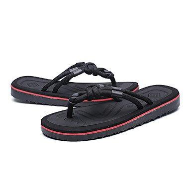 Slippers & amp da uomo;Pelle laccio dietro leggera estiva Soles microfibra esterna casuale Tallone piano sandali US7.5 / EU39 / UK6.5 / CN40