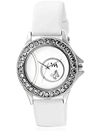 Watch Me White Dial White Silicon Strap Watch For Girls WMAL-240