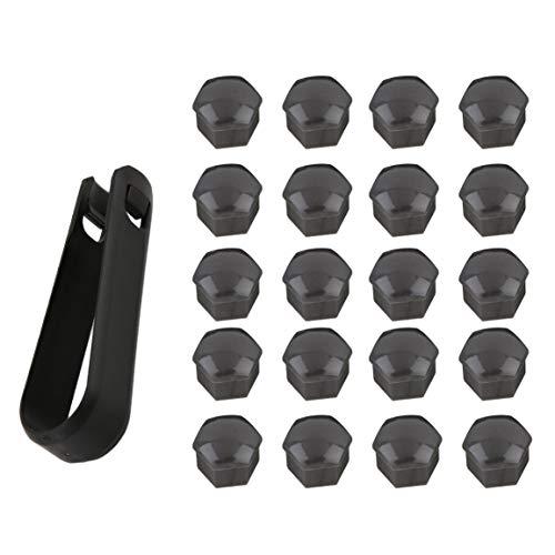 Car Styling 17mm 20Pcs Hub spécial Socket Roue de Voiture Automatique Vis Couvercle écrou Roues Enjoliveur Boulon Décoration extérieure Protection Gris