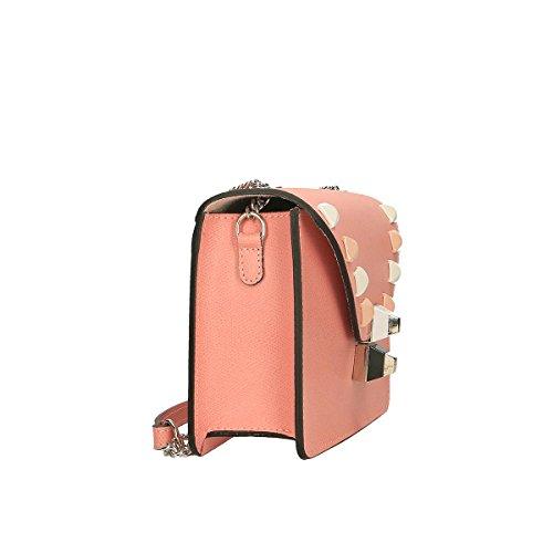 Chicca Borse Borsa a tracolla in pelle 24x16x7 100% Genuine Leather Rosa