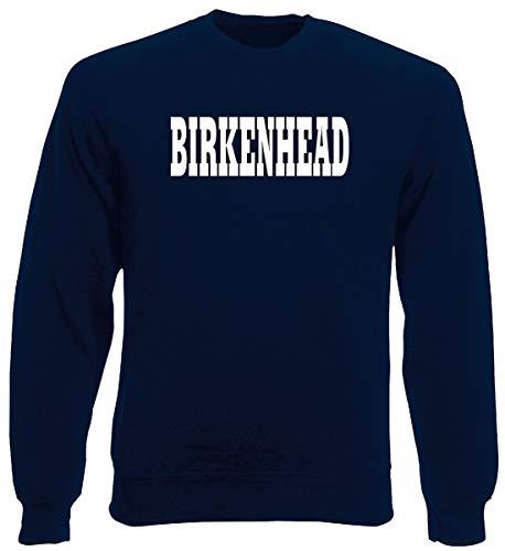 T-Shirtshock Rundhals-Sweatshirt fur Mann Blau Navy WC0768 Birkenhead