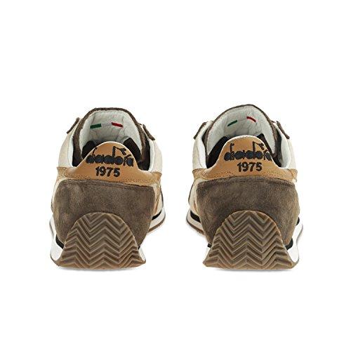 Diadora Heritage Equipe Pierre Lavage 12, Unisexe Bas-chaussures Adulte C6145 - Bianco-marrone Falco