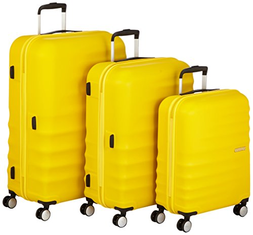 American Tourister Wavebreaker 3 Pieces A Koffer-Set, 196 Liter, Sunny Gelb