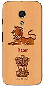 Aakrti Back cover With Lion and Govt. Logo Printed For Smart Phone Model : Letv Le Max .Name Ratan (Gem ) Will be replaced with Your desired Name