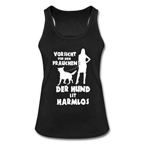 Schäferhund: Vorsicht vor dem Frauchen – der HUND ist HARMLOS Schwarz