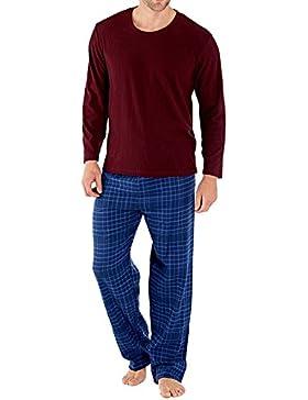 Harvey James - Pijama - recta - Cuadrados - Manga Larga - para hombre