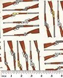 COWBOY FABRIC - 0.5 Metre - Shotguns Cream - BEN136 - Wild