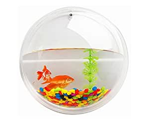 Hot Mini Clear Transparent Fish Tank Home Decoration