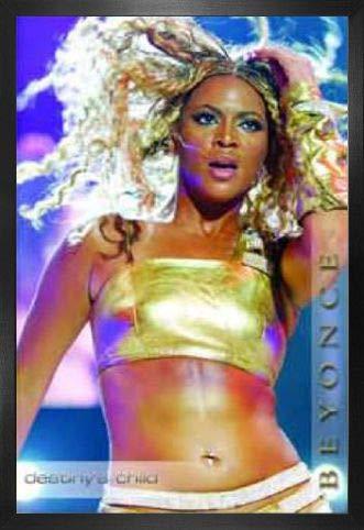1art1 Beyonce Knowles Poster und MDF-Rahmen - Live (34779) (91 x 61cm) (Beyonce Bilder-rahmen)
