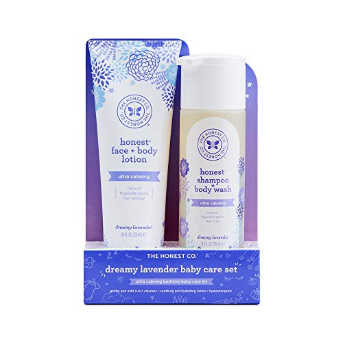The Honest Company 2 Piece Dreamy Lavender Shampoo with Body Wash & Lotion Bundle, 1.5 Pound - Lavender Body Care Lotion
