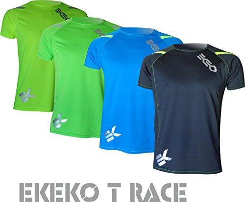 Camiseta EKEKO T Race DE Manga Corta para Hombre, Running, Atletismo,